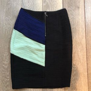 Maeve Anthropologie || color block pencil skirt